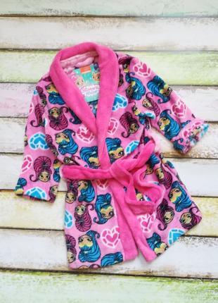 Пушистый флисовый халат для маленькой принцессы