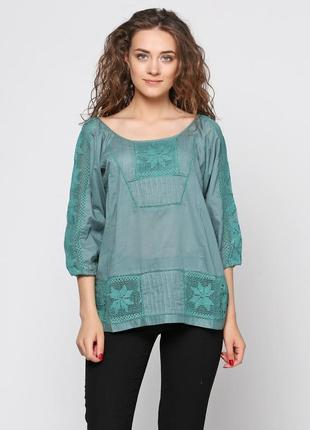 Классная блуза-туника,  просто спасение в жару)
