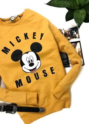Яркий свитшот с принтом на мягеньком флисе disney mickey mouse