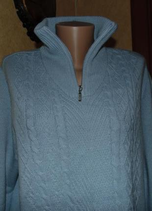 Полушерстяной свитер atelier  18-20 размет евро большой выбор теплой одежды!