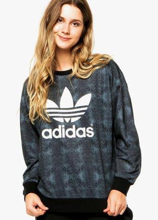 Свитшот adidas big logo с большим лого оверсайз