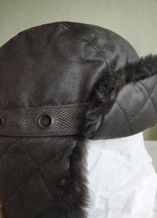 Стильная шапка-ушанка kangol.оригинал.размер м,л.