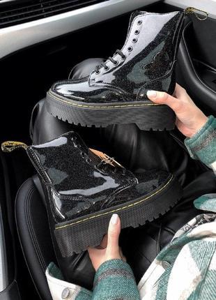 Шикарные женские зимние ботинки на платформе dr.martens jadon galaxy