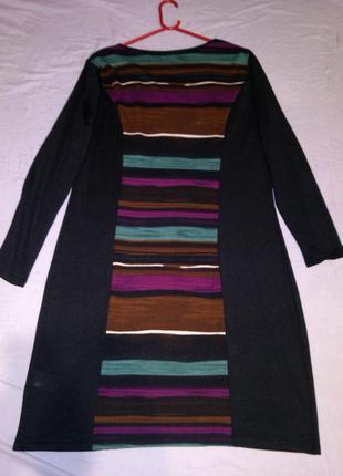 Тёплое,стрейч,тонкой трикотаж.вязки, комбинирующее фигуру платье,бол.18-22разм.anna field