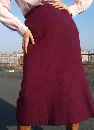 Красивая шерстяная юбка в ёлочку