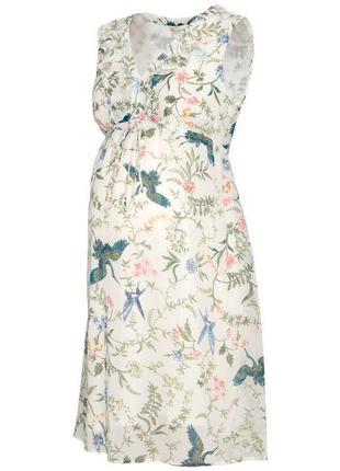 Платье в цветочный принт платье для беременных zara