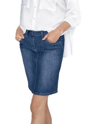 Удобная джинсовая юбка от tcm tchibo, германия, р-р 38 европейский (наш 44)