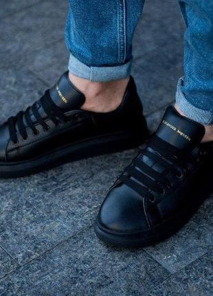 Шикарные мужские кроссовки alexander mcqueen black