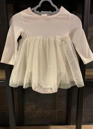 Новое платье h&m блестящее с боди
