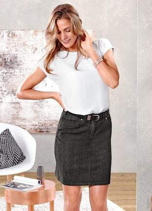 Джинсовая юбка от tcm tchibo, германия, р-р 46 евро (наш 52)