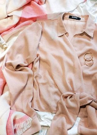 Пудровая блуза на запах missguided