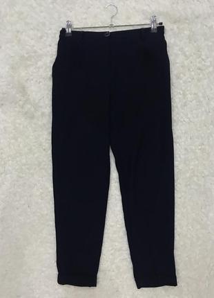 Темно синие свободные брюки dilvin