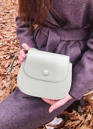 Модная сумочка, цвет фисташковый, тиффани