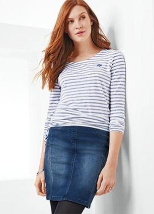 Удобная классическая джинсовая юбка от tcm tchibo, германия, р-р 42 евро, наш 48