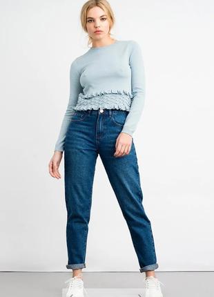 Очень крутые джинсы mom с высокой посадкой от бренда lost ink