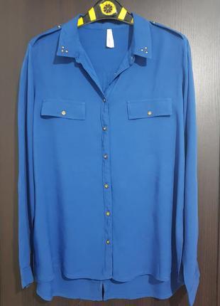 """Блузка-рубашка """"клёпки на воротнике"""""""