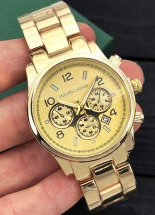 Чоловічій кварцевий годинник michael kors золотий
