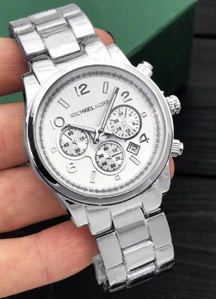Чоловічій кварцевий годинник michael kors срібний