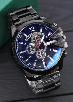 Чоловічій сталевий годинник diesel чорний