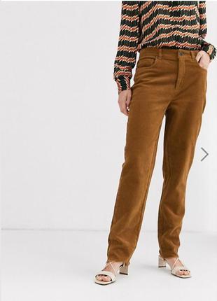 Крутые вельветовые брюки карамельного цвета от timberland размер l-xl