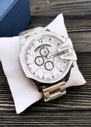 Чоловічій сталевий годинник diesel срібний
