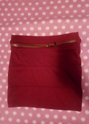 Новая бандажная юбка бордо марсала, обмен торг