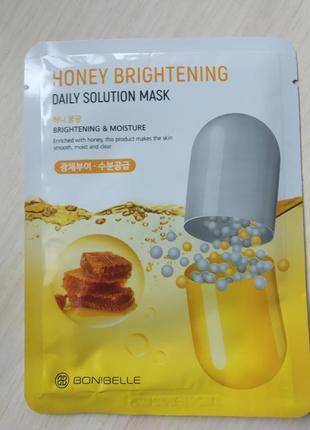 Тканевая маска для лица с медом enough bonibella honey brightening daily solution mask