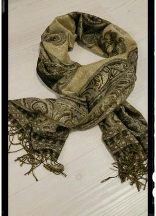 Большая двухсторонняя шаль,палантин,шарф 176 см × 69 см