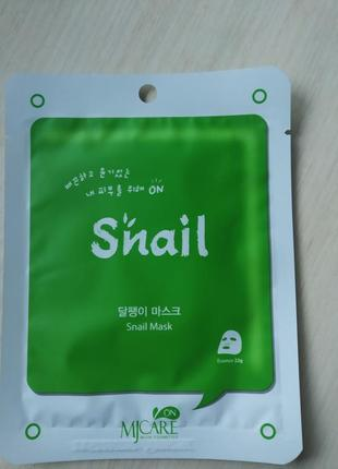 Маска для лица улиточная mj care on snail mask - 22 г