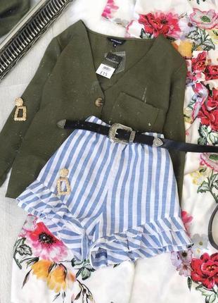Красивые шорты в полоску от shein