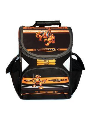 """Школьный рюкзак ранец каркасный ортопедический tiger """"robot"""""""
