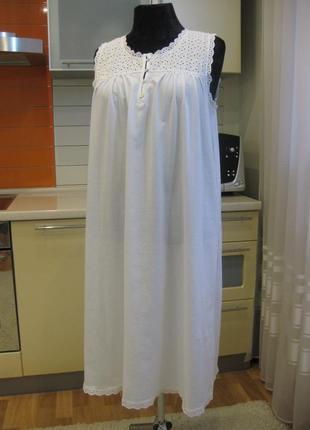 Белоснежная натуральная ночная рубашка, вискоза !!! новая, без бумажной этикетки !