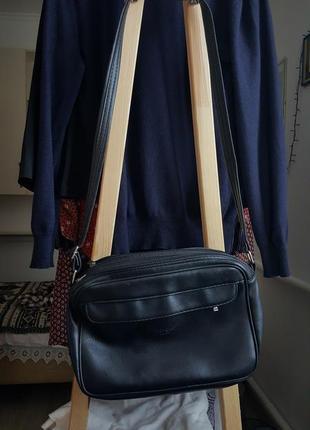Кожаная женская сумка с длинными ручками клатч сумка