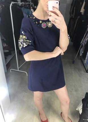 Женское нарядное платье  с камнями от olko