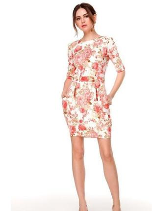 Платье белое с цветочным принтом must have