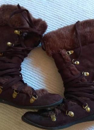 Зимні теплі чобітки 37 розмір