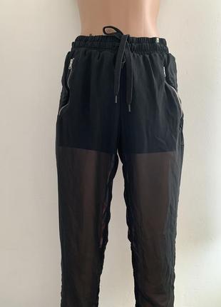 Эксклюзивные спортивные шифоновые штаны шорты adidas by rita ora skeleton