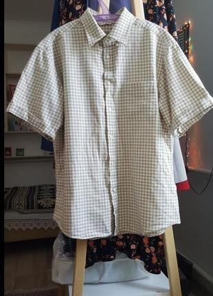 Женская рубашка в клетку кофта кардиган блузка поло