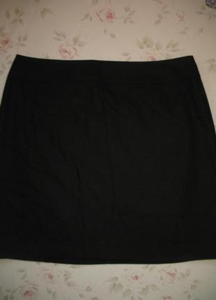 Строгая черная юбка размер eur 44 (25% шерсть)