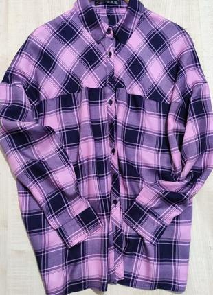 Натуральная рубашка свободного кроя