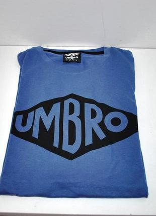 Футболка мужская новая! бренд umbro синяя l британия