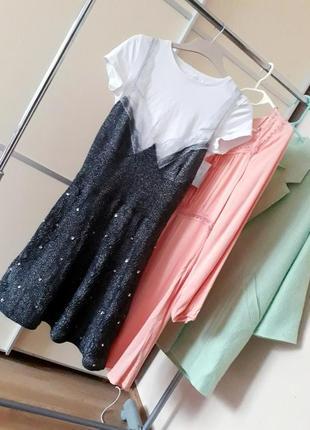 Новое платье в бельевом стиле с кружевом металлик  other stories 1+1=3