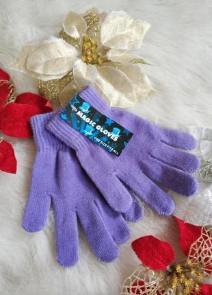 Нові м'якенькі рукавички для дівчинки magic gloves