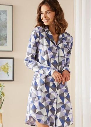 Женская фланелевая ночная рубашка-халат esmara lingerie евро 40-42
