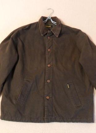 Демисезонная, коричневая, мужская куртка wrangler