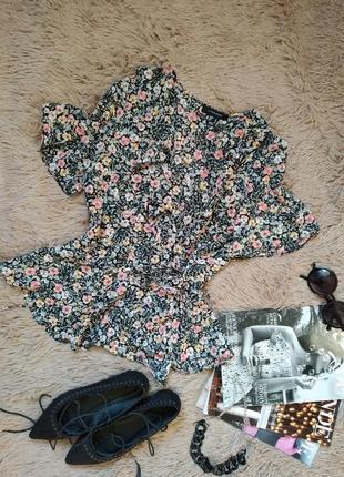 Шикарная блузка с рюшами на запах/блуза/кофточка/топ