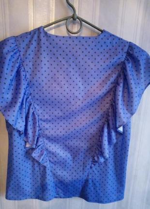 Интересная блузка в горошек