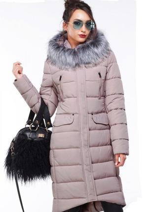 Пальто пуховик большого размера 56 размер