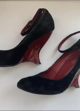 Туфли замшевые yves saint laurent