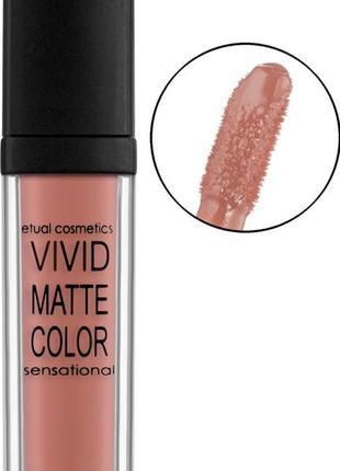Жидкая помада etual cosmetics vivid matte color sensational